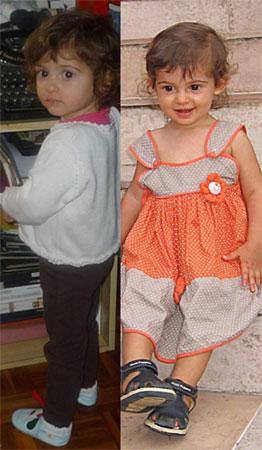 Dos fotos (la nieta de Alejandro M. Masedo)