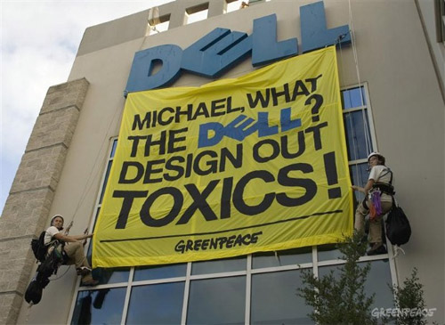 Acción de Greenpeace contra Dell