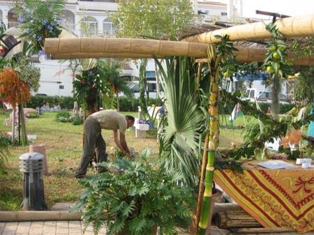 Un hombre cuida unas plantas en una edición de EcoAltea