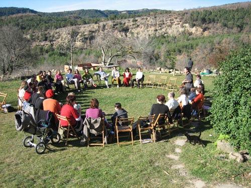 Grupo reunido en Artosilla (Huesca)