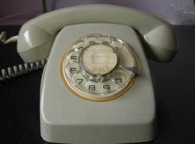 Antiguo teléfono fijo