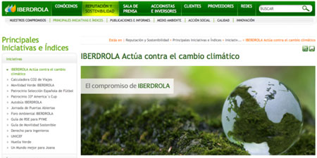 Web de Iberdrola