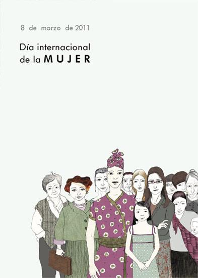 Cartel del Día de la Mujer del Ayuntamiento de Burgos
