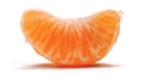 Un gajo de mandarina