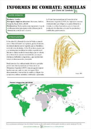 Las semillas - Portada del Informe de Combate