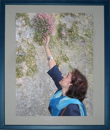 Una fotografía enmarcada de una mujer