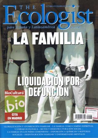 Portada del número 43 de The Ecologist: La familia. Liquidación por defunción