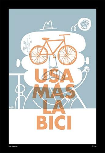 Usa más la bici (cartel de Biernes)