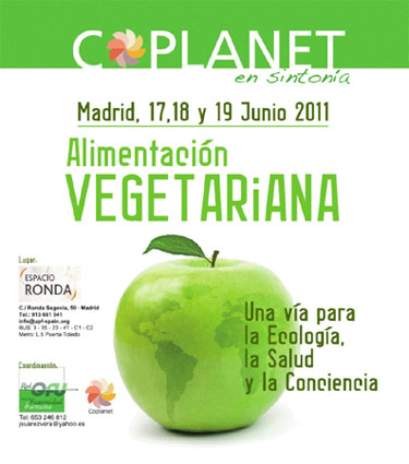 Cartel del encuentro Coplanet Vegetariano (Madrid 2011)