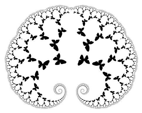 Mariposas en el cerebro (ilustración)