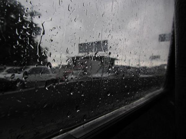 Lluvia desde el coche