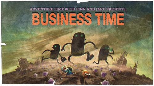 Ilustración: unos hombres de negocios parecen arrasar el mundo. La población huye.